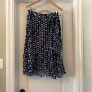 TRISTAN Faux Wrap Skirt, EUC!